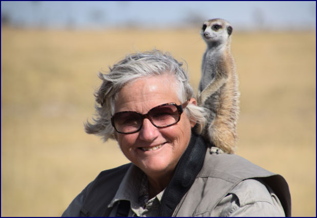 Phyllis with the Meerkats