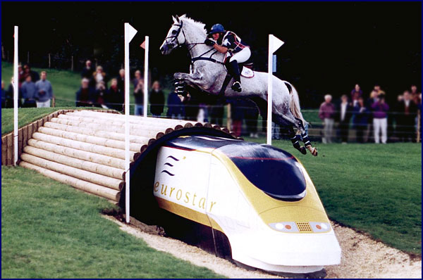 Snowy River and Phyllis Dawson representing the USA at the European Championships, Burghley, 1997.